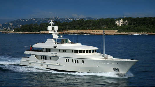 Lady In Blue Luxury Charter Yacht