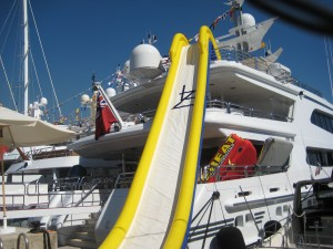 LAZY Z superyacht, with water slide