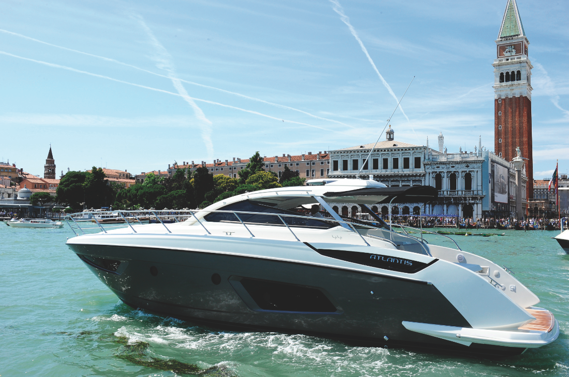 The Atlantis 44' was selected by Volvo Penta for the exclusive debut of ...