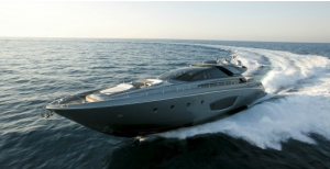 Motor yacht the Riva Domino 86 in the French Riviera