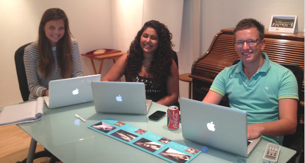 Our interns hard at work 2012