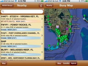 NOAA Buoy and Tide Data app