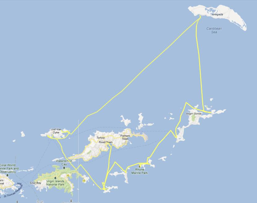 BVI Sailing Itinerary