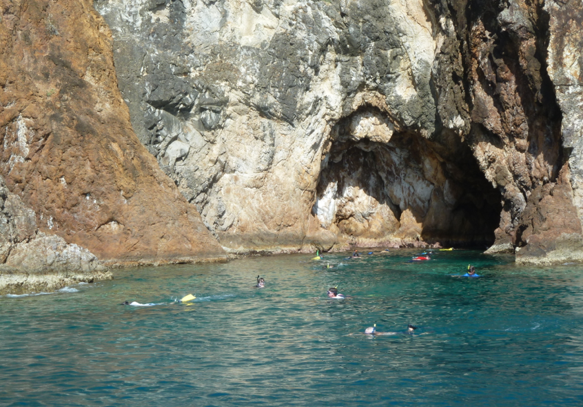 Snorkelling at the Caves, Norman Island