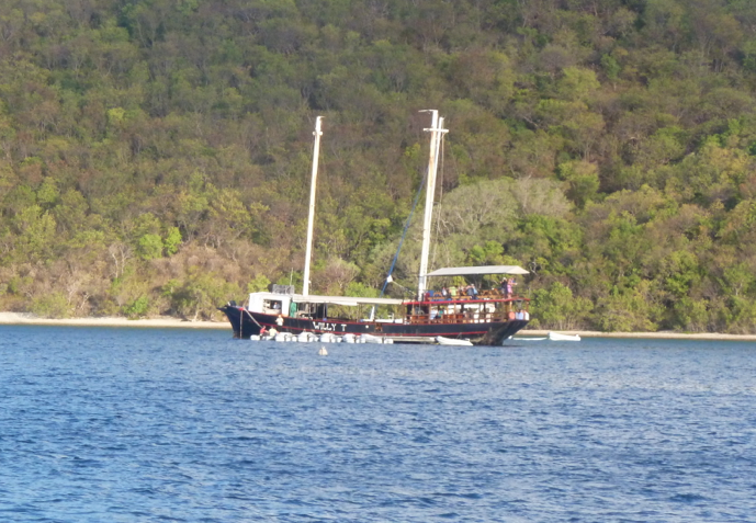 The Willy T Floating Bar and Restaurant in the Bight, BVI