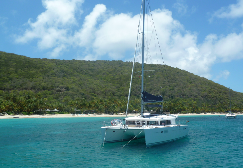 Anchored in Deadmans Bay, Peter Island