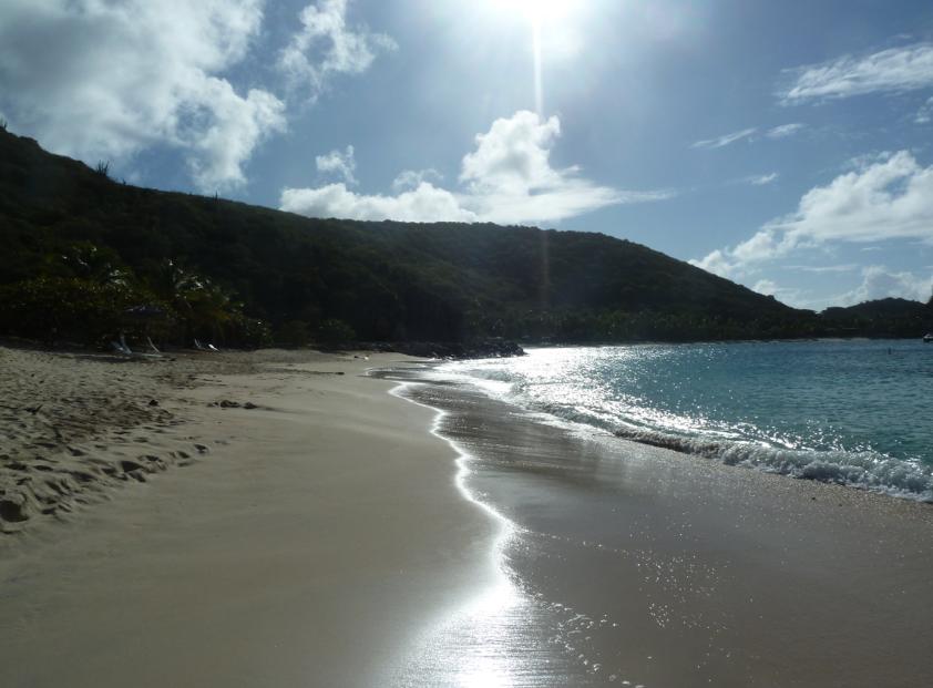 The beach at Deadmans Bay, Peter Island