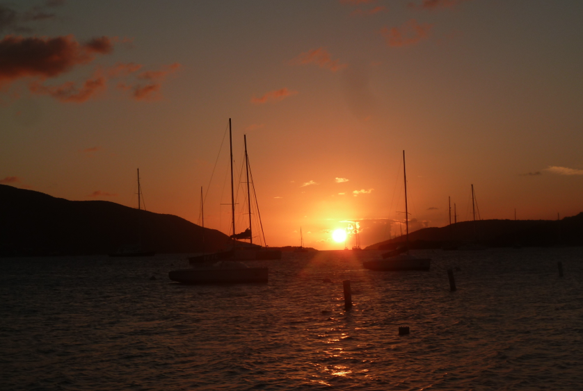 Sunset at the Bitter End Yacht Club