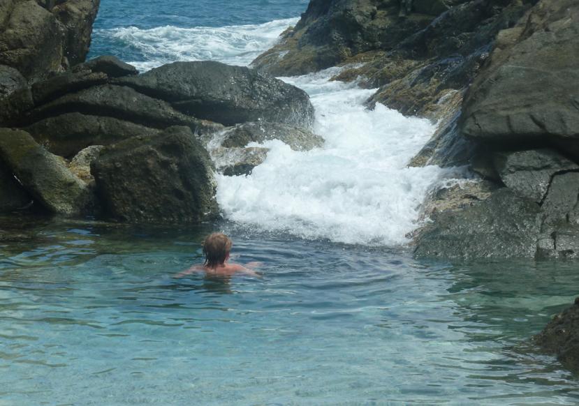 Enjoying the Bubbling Pools, Jost Van Dyke