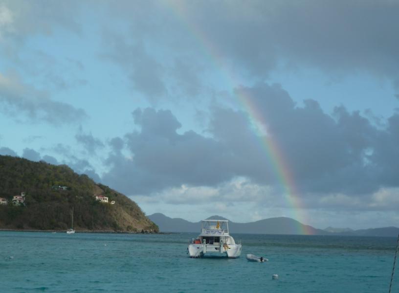 A Rainbow at White Bay, Jost Van Dyke