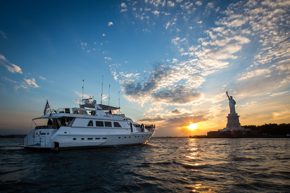 The Statue of Liberty on your New York Yacht Charter