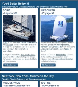 The most recent Newsletter - Do Something Different on Your Next Yacht Charter