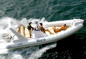 The Sacs 680 Rib for charter around Cannes and Antibes