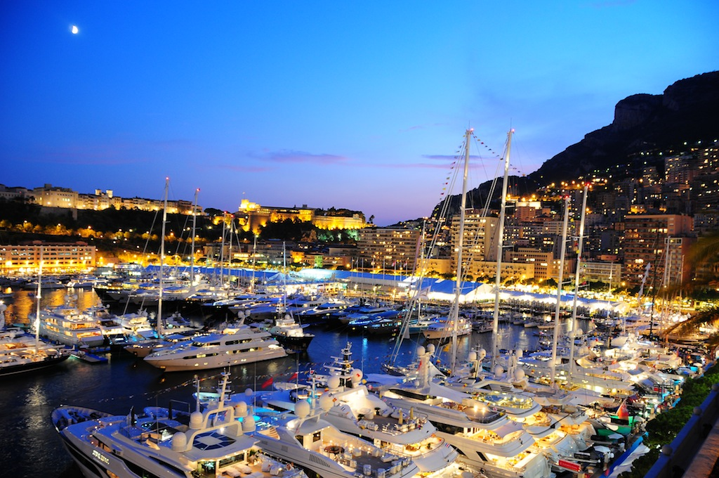 Monaco harbour - Stunning by night