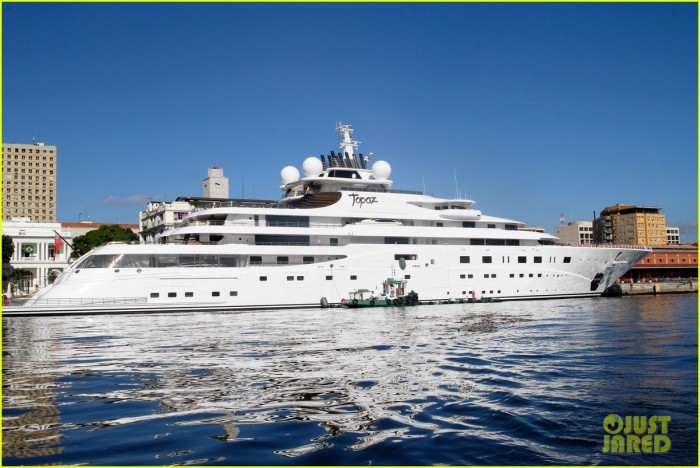 """Luxurious yacht """"Topaz"""" where Leonardo DiCaprio will be staying for the World Cup."""
