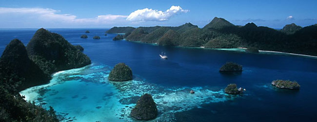 Stunning scenery in Indonesia, best explored by yacht!