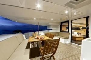 Huge aft deck with al-fresco dining area