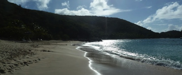 The beach at Dead Man's Bay, Peter Island