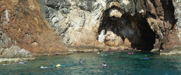 Snorkelling at the Caves on Norman Island