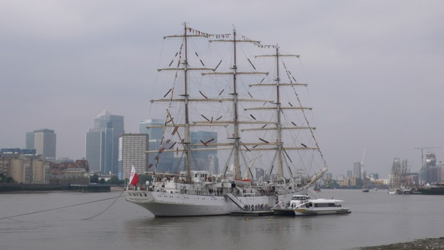 The Polish training vessel Dar Mlodziezy