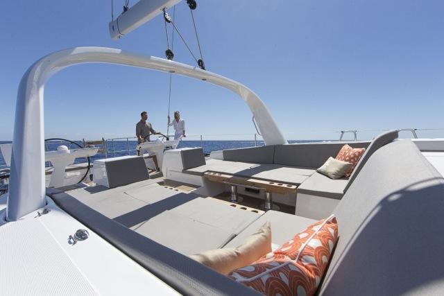Jeanneau 64 Deck Seating area