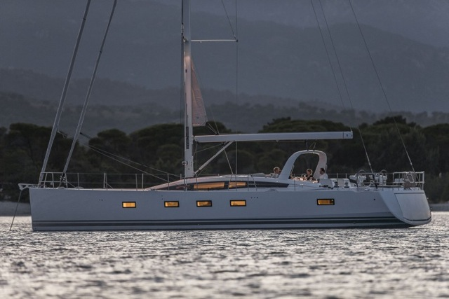 Brand new Jeanneau 64 at anchor