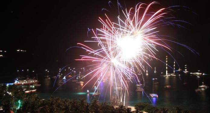 fireworks at Basil's Bar, Mustique