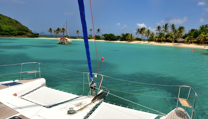 Mooring in Saltwhistle Bay, Bequia, St Vincent and the Grenadines