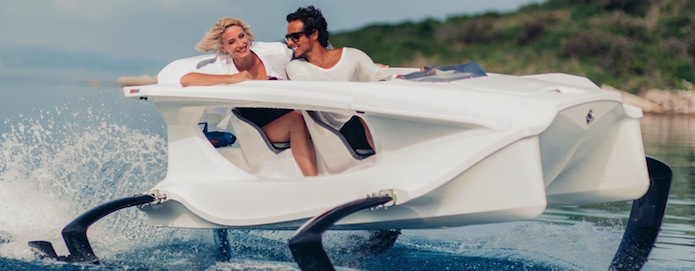 The Quadrofoil seats a driver and passenger with room to spare and see!