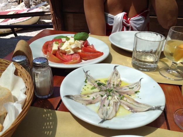 Lunch at Da Adolfo, Positano