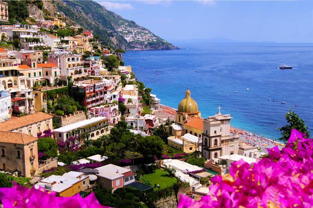 The colourful town of Positano on the Amalfi Coast