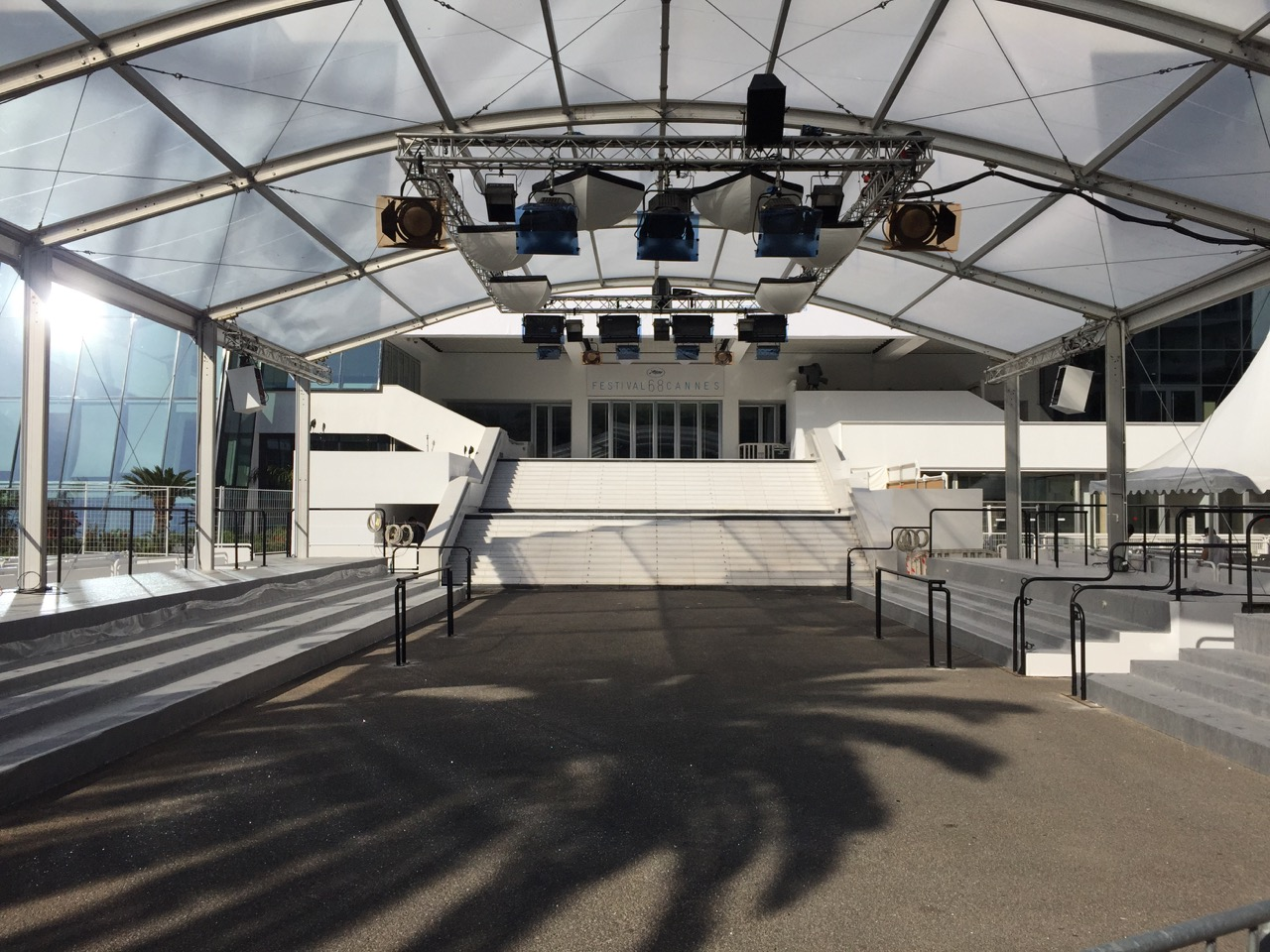 The Palais des Festivals is ready to welcome the 68th Cannes Film Festival 2015