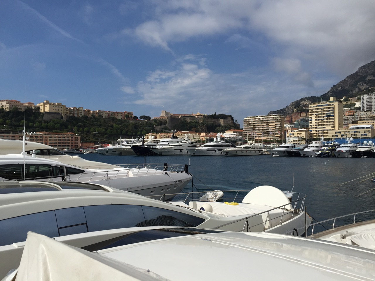 Yachts in Port Hercules at Monaco Grand Prix