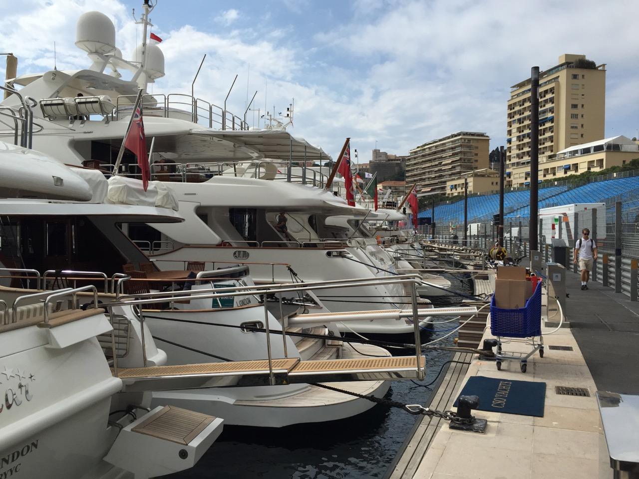 Yachts at Tabac Corner Monaco Grand Prix