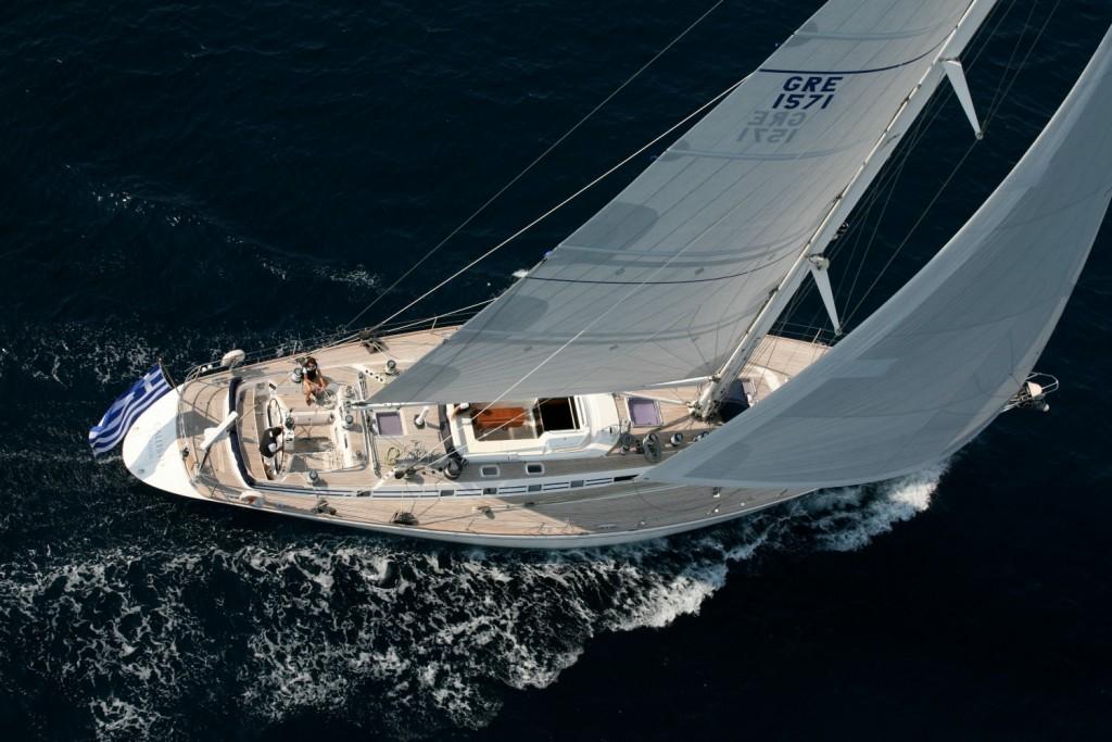 Callisto is a stunning Nautors Swan for charter in Greece