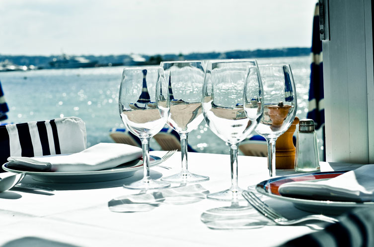 Enjoy lunch in the sun or dinner at Tetou in Golfe Juan