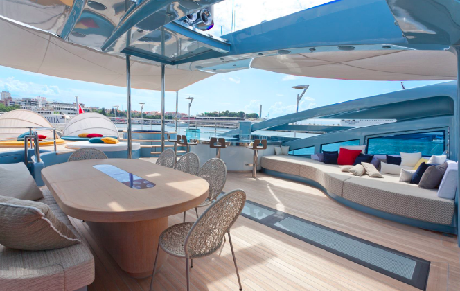 The Outdoor Areas Are Extremely Generous For A Motor Yacht In This Size Range All Of Exterior Furniture And Decorative Panels Were Fully Customised
