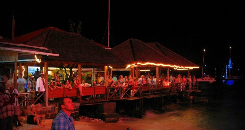 Party at Basil's Bar on the island of Mustique!