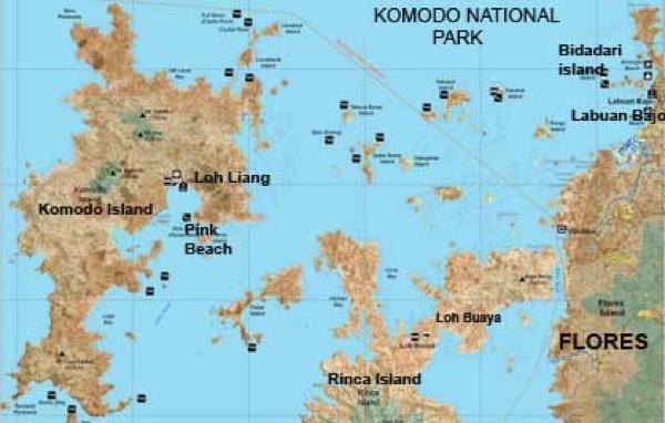 Komodonationalpark-Map