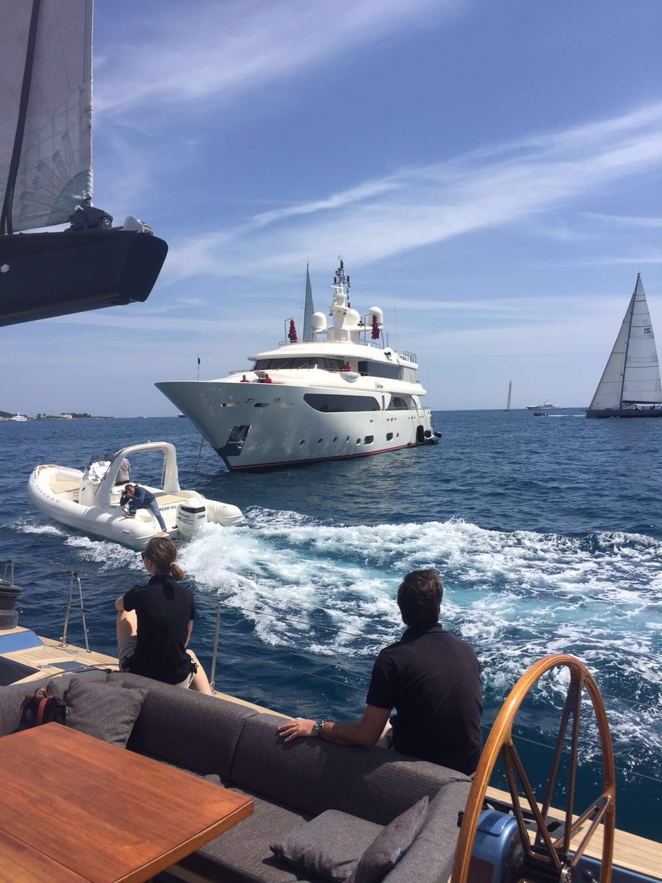 Super yachts at anchor in the south of France