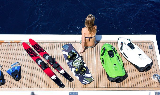 Crewed Yacht Water Toy Selection