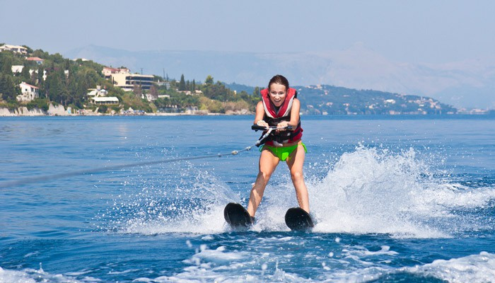 Hit the water running on water skis during your yacht charter!