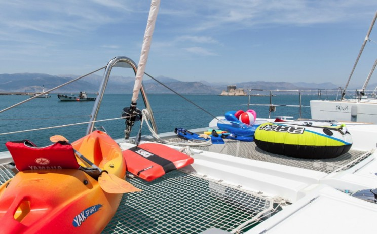Catamarans are ideal for exploring the numerous islands of Greece