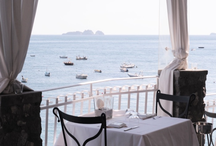 Dine over the sea at Rada Restaurant, Positano