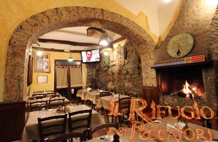Il Rifugio dei Peccatori restaurant in Sardinia