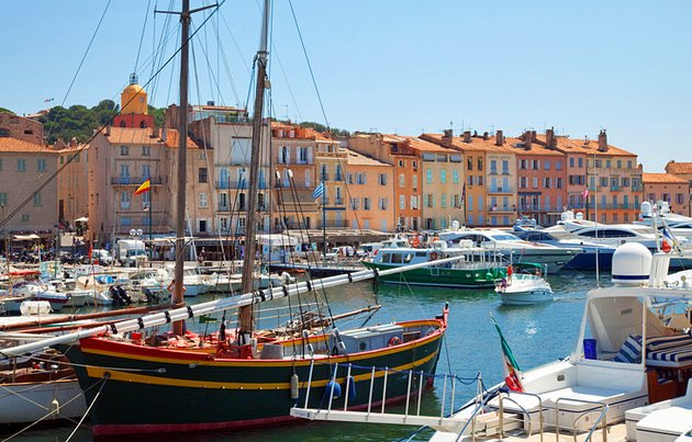 The enticing port of St Tropez
