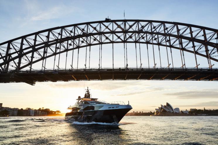 ghost ii, yacht, motor yacht, crewed motor yacht, yacht, australia