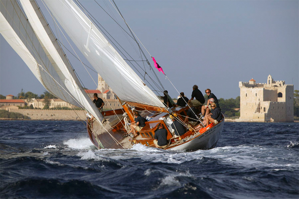 image of classic yacht