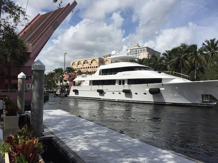 Charter a super yacht in Fort Lauderdale