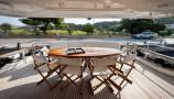 LADY P - Crewed Motor Yacht - Aft Dining